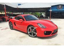 2014 Porsche Cayman S 3.4 Coupe --PRICE INCLUDED GST-- PDK_BOSE Sound System_Seat Heating_SportDesign Steering_Twin Tailpipes_20 inch SportTechno Rims
