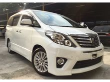 2012 Toyota Alphard 2.4 SC - HIGH SPEC - PILOT SEAT - ELEC MEMERY SEAT - POWER BOOT - GST INCLUDED