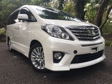 2013 Toyota Alphard 2.4 S MPV TIPTOP condition MUST VIEWING