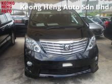 2011 Toyota Alphard 2.4 (A) S PRIME EDITION 2 POWER DOOR POWER BOOT HOME THEATER SURROUND SOUND SYSTEM MEMORY SEATS 18 RIM ADJUSTABLE SIDE MIRROR