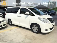2013 Toyota Alphard 2.4 VVTi New Facelift 7-Speed 2 Power Doors 9 Air Bag Xenon Lights Front Reverse Camera Push Start Climate Control 1 Year Warranty