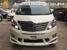 2012 Toyota Alphard 2.4 S C Ken Style Edition 4 Surround Camera Pilot Memory Seat Power Boot Power Doors Moon Roof Sun Roof Full Spec 1 Year Warranty