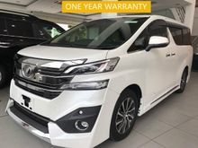 2016 UNREG TOYOTA VELLFIRE 3.5 VL (FULL SPECS) - JBL SOUND SYSTEM - HOME THEATRE WITH 17 SPEAKERS SURROUND SOUND SYSTEM - WARRANTY BY OWN WORKSHOP