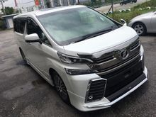2016 Toyota Vellfire 2.5 ZG Edition High Specs UNREG