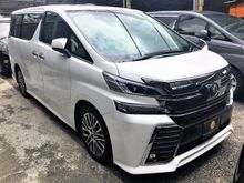 2015 Toyota Vellfire 2.5 ZG UNREG *** SUNROOF + EXECUTIVE SEATS ***