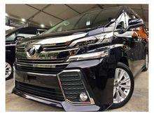 Ninja Black Toyota Vellfire 2.5 Z ZA Unreg Included GST 2015 15 YEAR END SALES