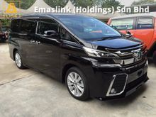 2015 Toyota Vellfire 2.5 ZA 4 Surround Camera Sun Roof Moon Roof 7 Seat 2 Power Doors Body Kit Hold Function 9 Air Bags 1 Year Warranty Unreg
