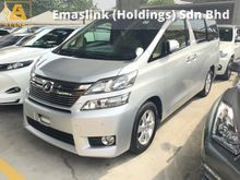 2013 Toyota Vellfire 2.4 VVT-i 7-Speed SCVT New Facelift Power Doors Front and Reverse Camera Keyless Go Push Start 9 Air Bags Xenon 1 Year Warranty