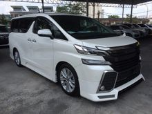 2015 TOYOTA VELLFIRE 2.5 Z * LEATHER SEATS * ROOF MONITOR * REVERSE CAMERA * CUSTOM BODYKIT * OFFER *