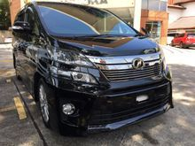 2012 Toyota Vellfire 2.4 ZG Home Theater System Leather Seats