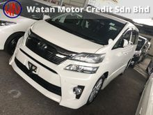 TOYOTA VELLFIRE 2.4 Z LATEST FACELIFT, SUNROOF, 7 SEATERS, 2 POWER DRS, BODYKIT, PARKING CAMERA, PARKTRONIC,13-UNREG,KL AP,FREE 1 YEAR WARRANTY