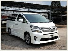 2012 (UNREG) Toyota Vellfire 2.4 GOLDEN EYE**POWER BOOT**COOL BOX**LEATHER SEAT**STOCK CLEARANCE
