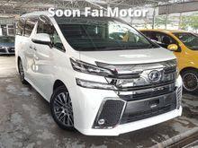 2015 Toyota Vellfire 2.5 ZG Full Spec MPV Like New Car Condition Unregistered