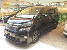 2012 Toyota Vellfire 2.4 ZG New Facelift Pilot Seat 7 Leather Seat 2 Power Doors Automatic Power Boot Body Kit Front Reverse Camera 1 Year Warranty