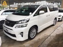 2013 Toyota Vellfire 2.4 Z Edition Moon Roof Sun Roof 2 Power Door 7 Seat Body Kit Xenon Light New Facelift 9 Air Bags 1 Year Warranty Unreg