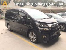2013 Toyota Vellfire 2.4 Z Golden Eye Selection Automatic Power Boot 2 Power Doors 7 Seat Half Leather Body Kit Xenon Light 1 Year Warranty Unreg