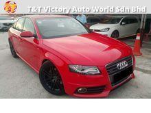 Audi A4 2.0 TFSI $$ FINAL CNY MONTH MASSIVE DISCOUNT $$ ** FULL SPEC S LINE QUATRO ** ALL BLACK INTERIOR ** SPORTY BUCKET SEAT WITH S LINE LOGO **