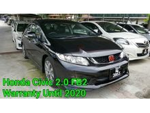 2016 Honda Civic 2.0 Navi HIGH SPEC FULL SERVICES RECORD WARRANTY UNTIL 2020 FULL LOAN