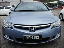 (REAL 2006 ) Honda Civic 1.8 FD I-VTEC # DISCOUNT RM5000 # LOW MILEAGE # ONE OWNER