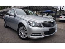 2012 Mercedes-Benz C200 CGI 1.8 Elegance 7 Speed Japan Spec Unregister
