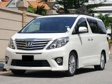 2012 TOYOTA ALPHARD  2.4 i (A) VVTi SC ORIGINAL NEW FACELIFT, 7 SEATER PILOT SEAT ELECTRIC MEMORY SEAT HOME THEATER SUNROOF MOON ROOF SUPER HIGH SPEC