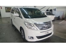 2012 Toyota Alphard 2.4 G MPV FULL SPEC UNREG (TRUE YR 12) Home-Theater System. All-View Surround Camera. CALL NOW WHILE STOCK LASTS