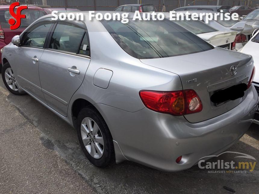 2009 Toyota Corolla Altis E Sedan