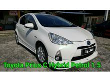 2013 Toyota Prius C 1.5 Hybrid Hatchback IMPORT BARU LIKE NEW  FULL SPEC FULL LOAN