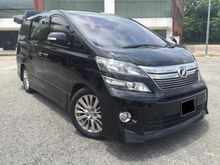 Toyota Vellfire 2.4 ZG SPEC (A) 7 SEATER - 2 POWER DOOR - POWER BOOT - HOME THEATER -NO PROCESSING  JUST DRIVE AND NO REPAIR