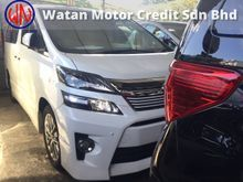 Toyota Vellfire 2.4 GOLDEN EYE,POWER BOOT,SUNROOF,7 SEATER,FRONT N BACK CAMERA N DVD PLAYER,XENON LAMP,BODYKIT,TRUE YEAR CAN PROVE 13-UNREG,FREE Gifts