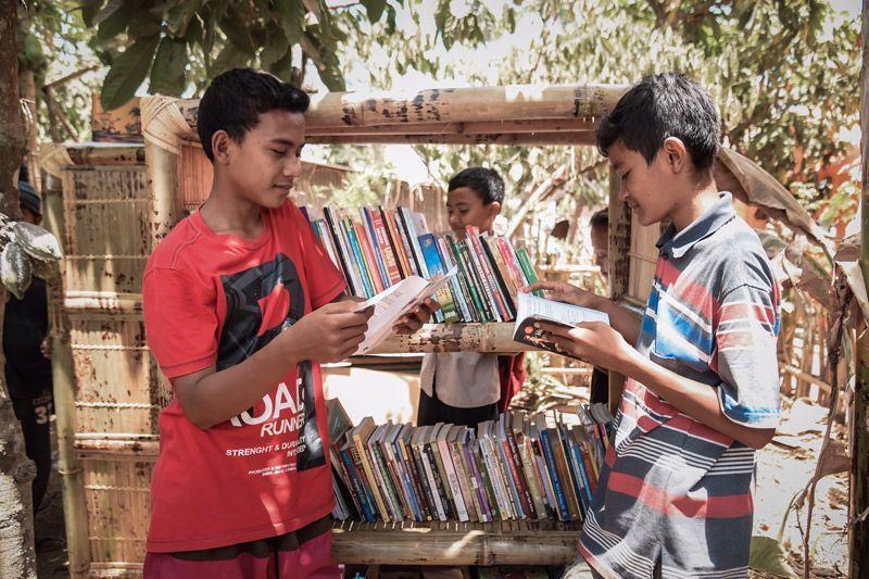 Perpustakaan RAT dan Motorbaik Adventure Lombok 2018