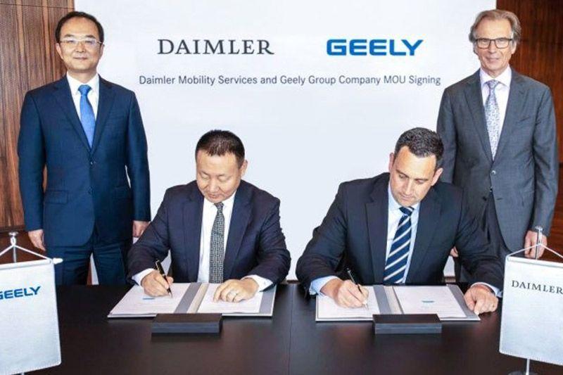 Daimler & Geely Joint Venture Fleet