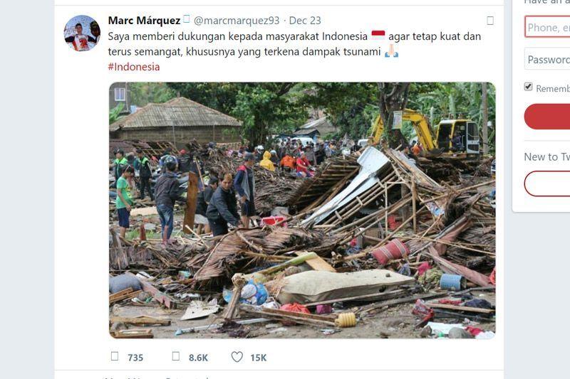 Marc Marquez Tsunami Selat Sunda Indonesia