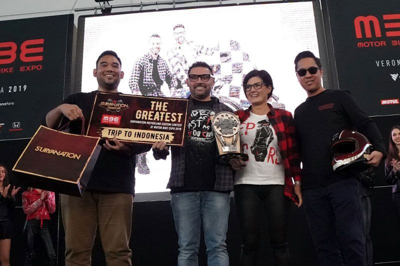 Mirko Perugini Suryanation Motorland Custom Contest Motr Bike Expo 2019