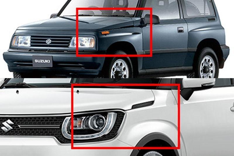 Desain eksterior Suzuki Ignis