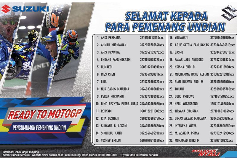 Pemenang Ready To MotoGP 2018