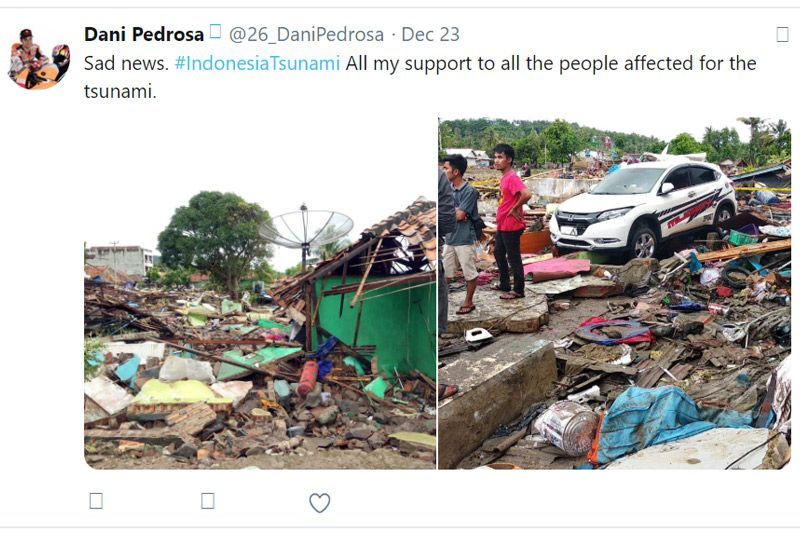 Dani Pedrosa Tsunami Selat Sunda Indonesia 2018