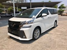 2017 Toyota Vellfire (ปี 15-18) ZA EDITION GOLDEN EYES 2.5 AT Van